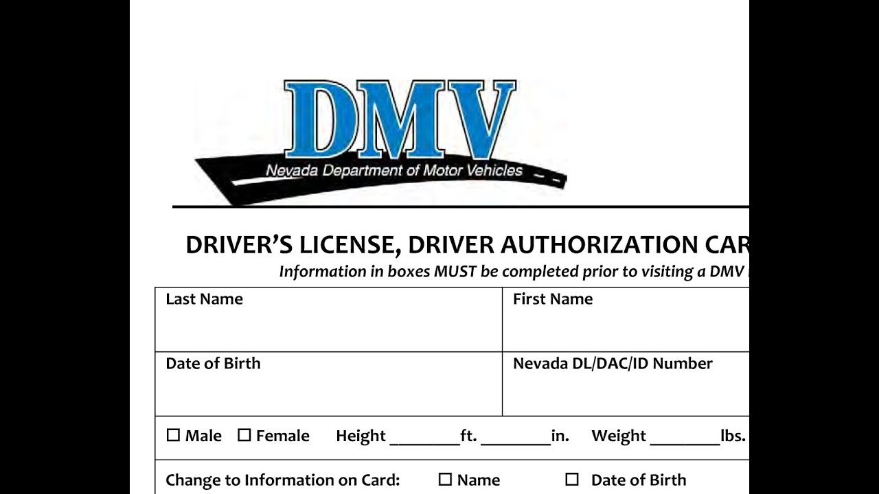 What If I Lie On My Nevada Dmv Drivers License Application Youtube