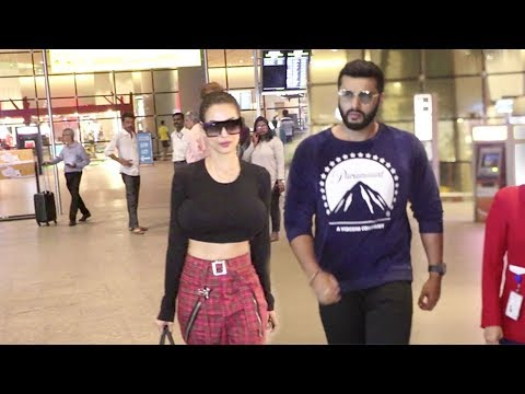 Arjun Kapoor & Girlfriend Malaika TOGETHER At Mumbai Airport Returning After Holiday