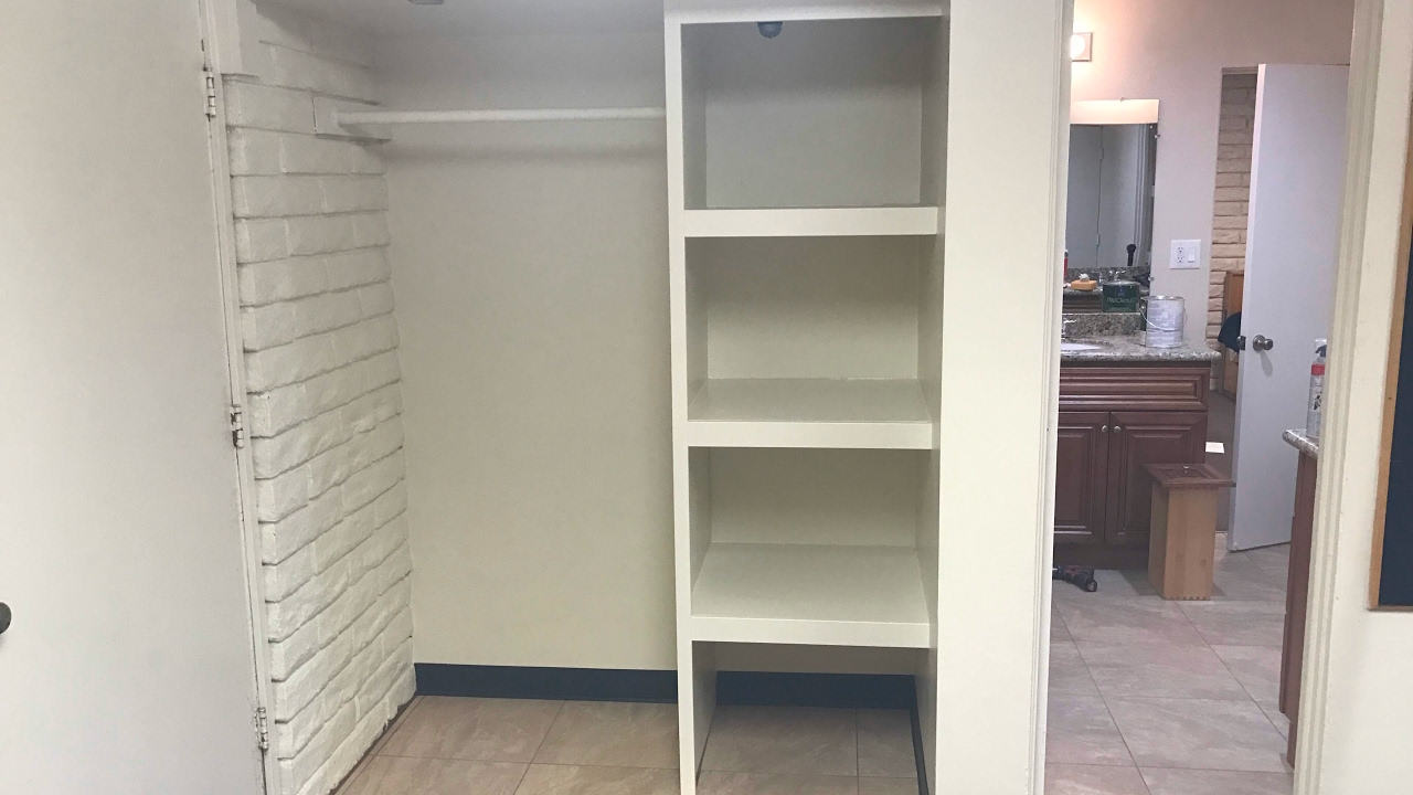 Closet de madera sencillo haciendo 4 closets de madera