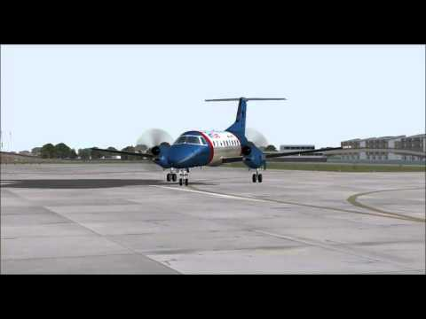 EMBRAER 120 BRASILIA PALMETTO EXPRESS TAKE OFF FROM LONDON CITY AIRPORT