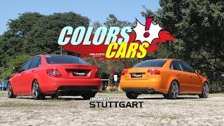 colors cars audi e mercedes com rodas aro 20 fixa stuttgart volcano wheels