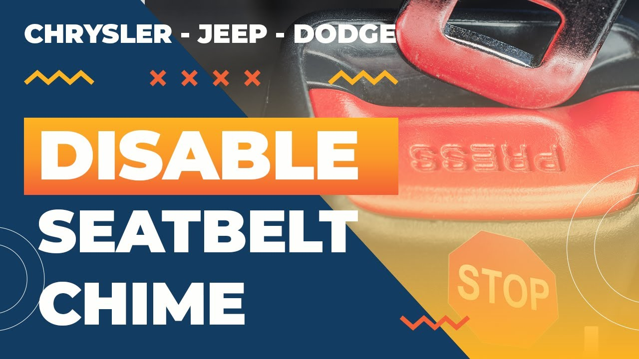 "2017 Grand Cherokee >> Disable the ""Seat belt Not On"" Chime on a 2017 Chrysler's ..."