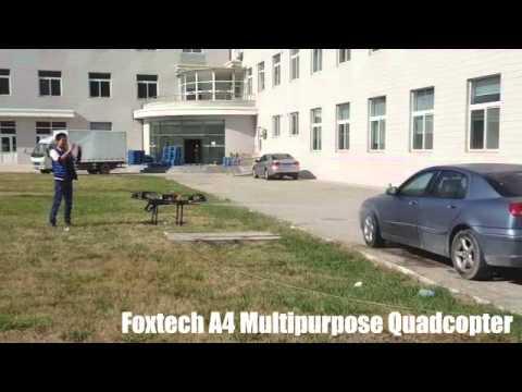 Foxtech A4 Quadcopter with a water gun