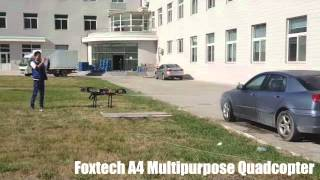 Foxtech A4 Quadcopter with a water gun