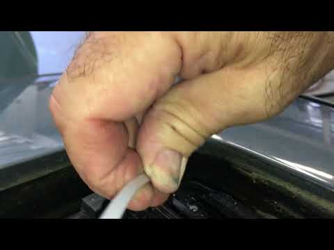 How to unclog a sunroof drain