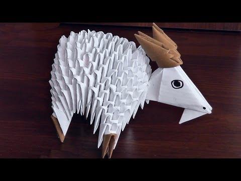 Модульное оригами кошка схема сборки фото 578