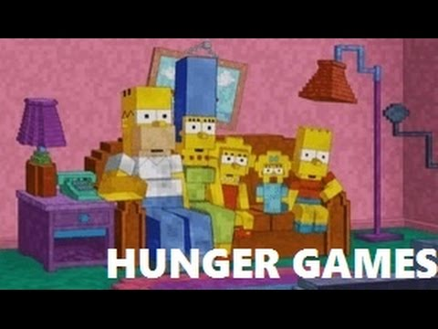 Minecraft Xbox: Springfield Simpsons Hunger Games