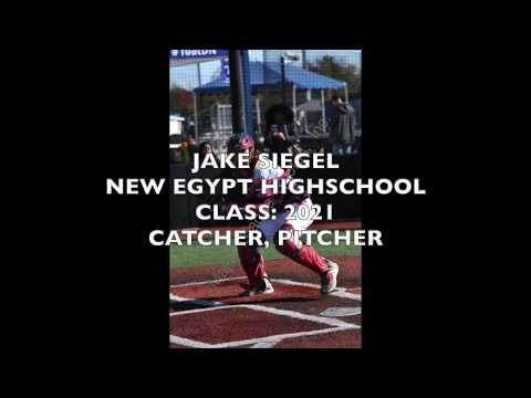 Jake Siegel 2021   New Egypt High School Baseball Season Stats *Sophomore Year*