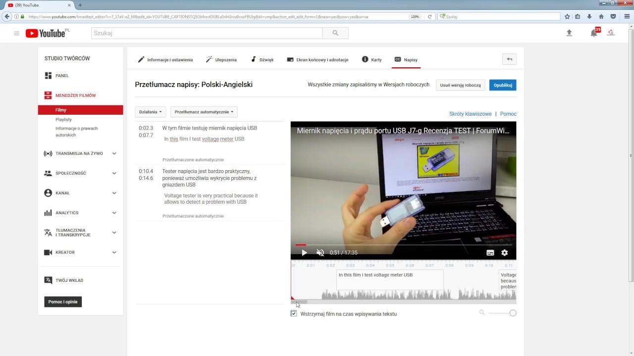 Jak dodać napisy do filmu na YouTube? | ForumWiedzy