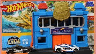 Pretend Play Hot Wheels City Playset Police Station