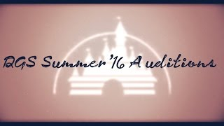 DGS Summer '16 Auditions [CLOSED, RESULTS VIDEO UP]