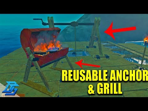 REUSABLE ANCHOR AND GRILL!- Raft - Pt.8 (Multiplayer)