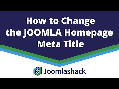 How To Change The Joomla Homepage Meta Title With OSMeta