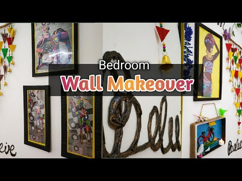 BedRoom Wall Makeover   Budget Friendly Decor Ideas   DIY Tribal Decor    Part 1