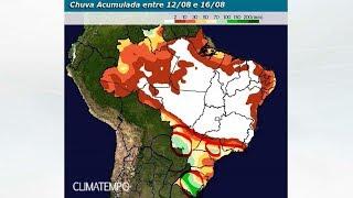 Chuva para o centro-sul do Brasil