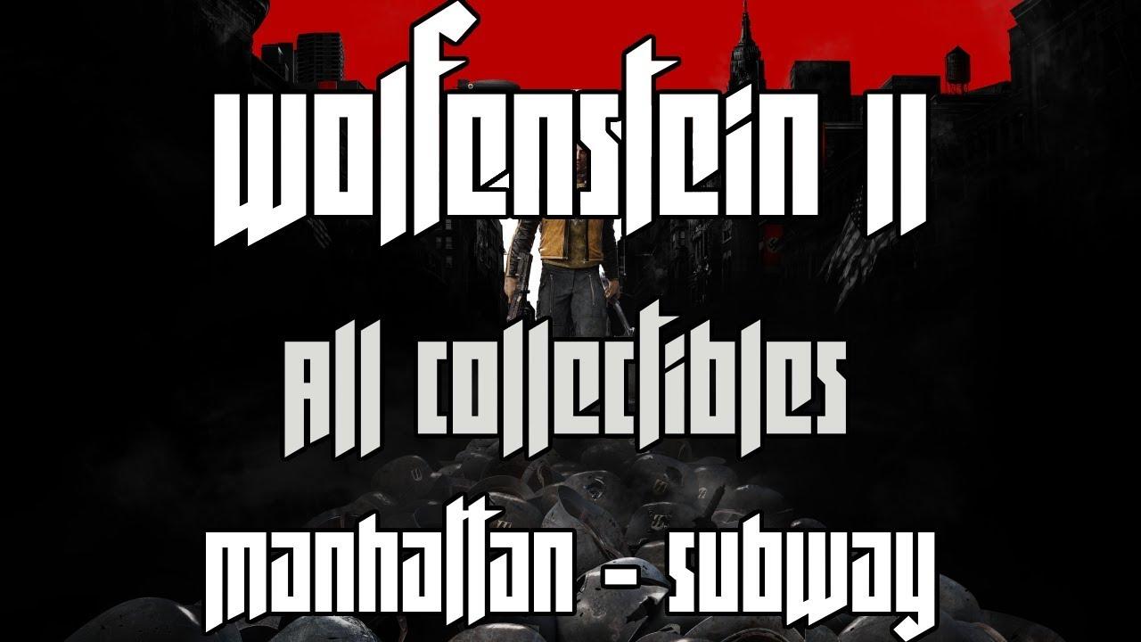 Wolfenstein 2 Subway Map.Wolfenstein Ii The New Colossus All Collectibles Manhattan Subway