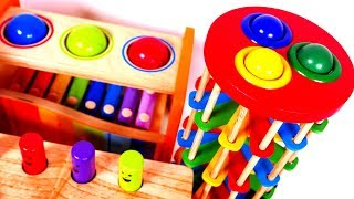Learn Colors with Pounding Table for Children and Yippee Toys