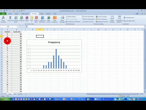 How To... Plot A Normal Frequency Distribution Histogram In Excel 2010