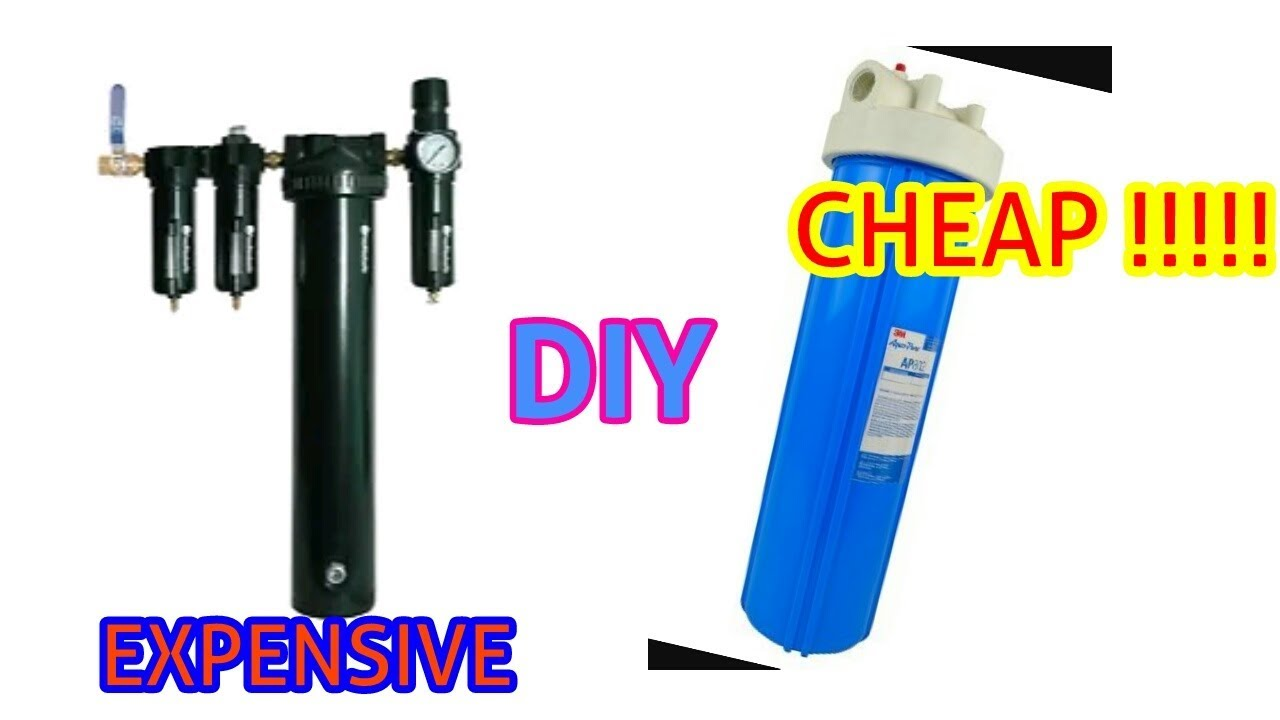 Air Compressor Filter Dryer >> Diy Dessicant Dryer Cheapest One Filter For Air Compressor Youtube