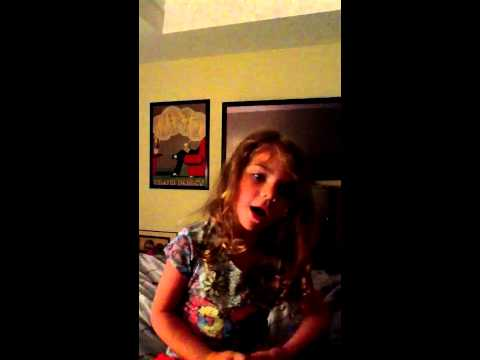 Eva Bella singing Baby by Justin Bieber