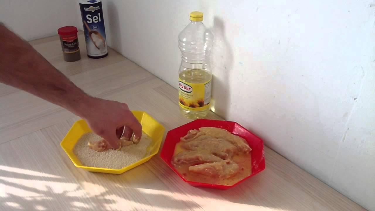 faire du poulet pan recette escalopes pan es youtube. Black Bedroom Furniture Sets. Home Design Ideas