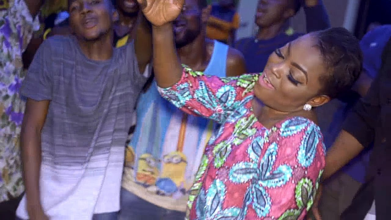 Download Funke Akindele Shows Her Dancing Skills As She Dab And Twerk With Family