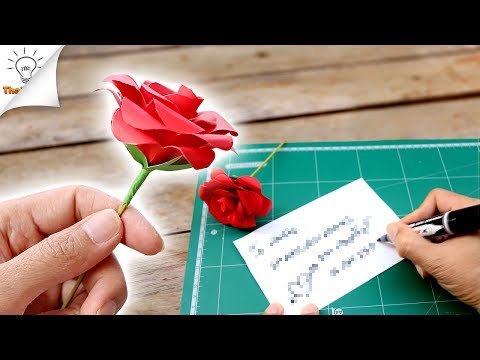 How To Make Paper Flower Valentine Gift Ideas