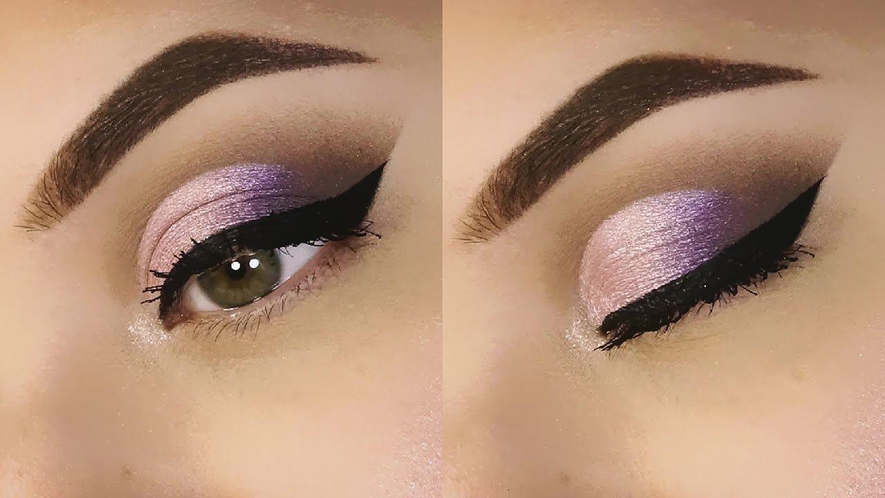Cut Crease VIOLA ROSA e MARRONE GRIGIO   Trucco   Makeup Tutorial    SweetMakeup ♥ - YouTube