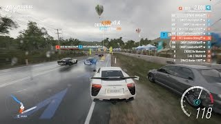 Forza Horizon 3 PC - Lexus LFA [S1 Class] Multiplayer Race Gameplay + Top 10 Rivals