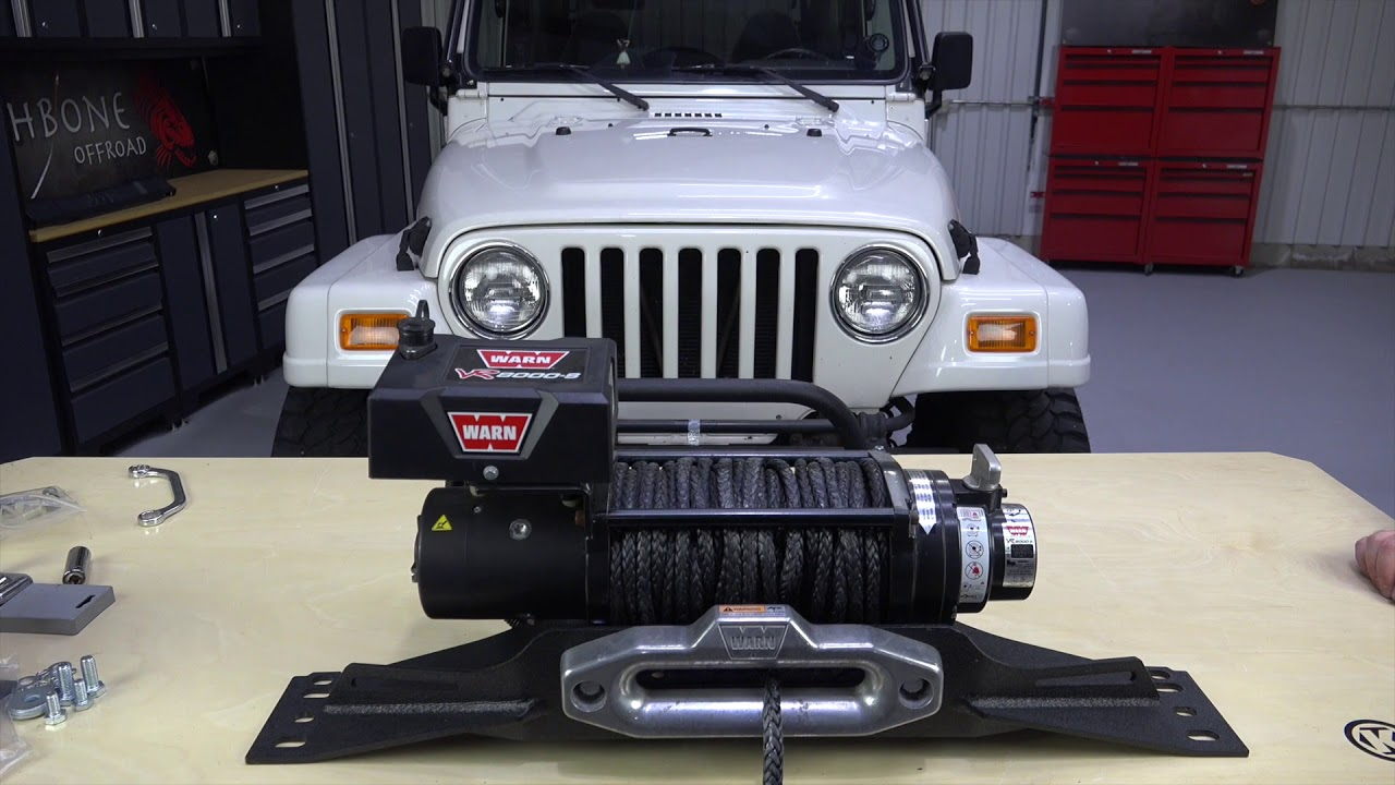 hight resolution of fb21052 tj wrangler winch plate installation guide