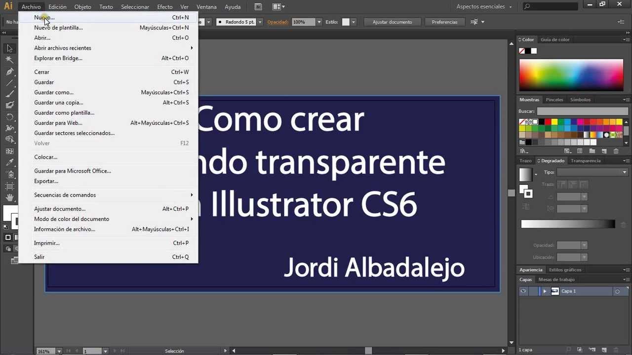 c999337f2758d Crear un fondo transparente con Illustrator - YouTube