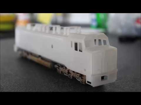 HO Scale custom BC Rail GF6C Shell ( FOR SALE )