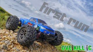 FIRST RUN with the Hosim 9130 Spirit Monster Truck | Gravel Pile Bash | Overkill RC