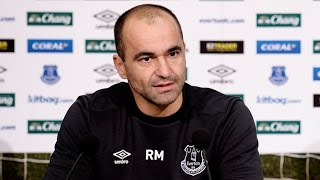 Roberto Martinez's pre-Man City Press Conference