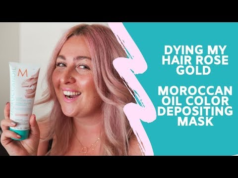 Dying my hair Rose Gold with Moroccan Oil Color Depositing Mask
