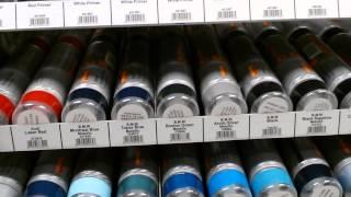 видео Автомобильная аэрозольная краска в баллончиках (автоэмаль)