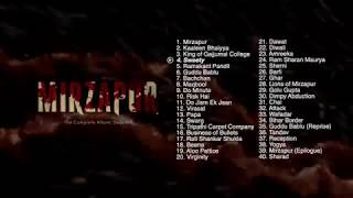 Mirzapur | Jukebox | Original Background Music | Pankaj Tripathi | Ali Fazal | The Complete Album