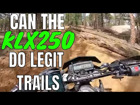 Can the KLX250 dual sport do legit Dirtbike OHV trails? | Come back Review of the KLX250