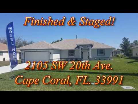 FINISHED & STAGED! Model Home at 2105 SW 20th Ave , Cape Coral, FL  33991