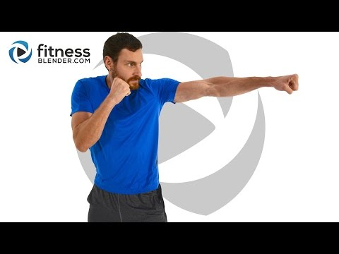 Intense HIIT Cardio Kickboxing and Upper Body Strength Workout