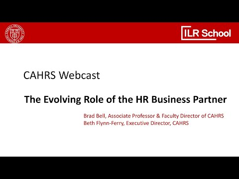 CAHRS: The Evolving Role Of The HRBP