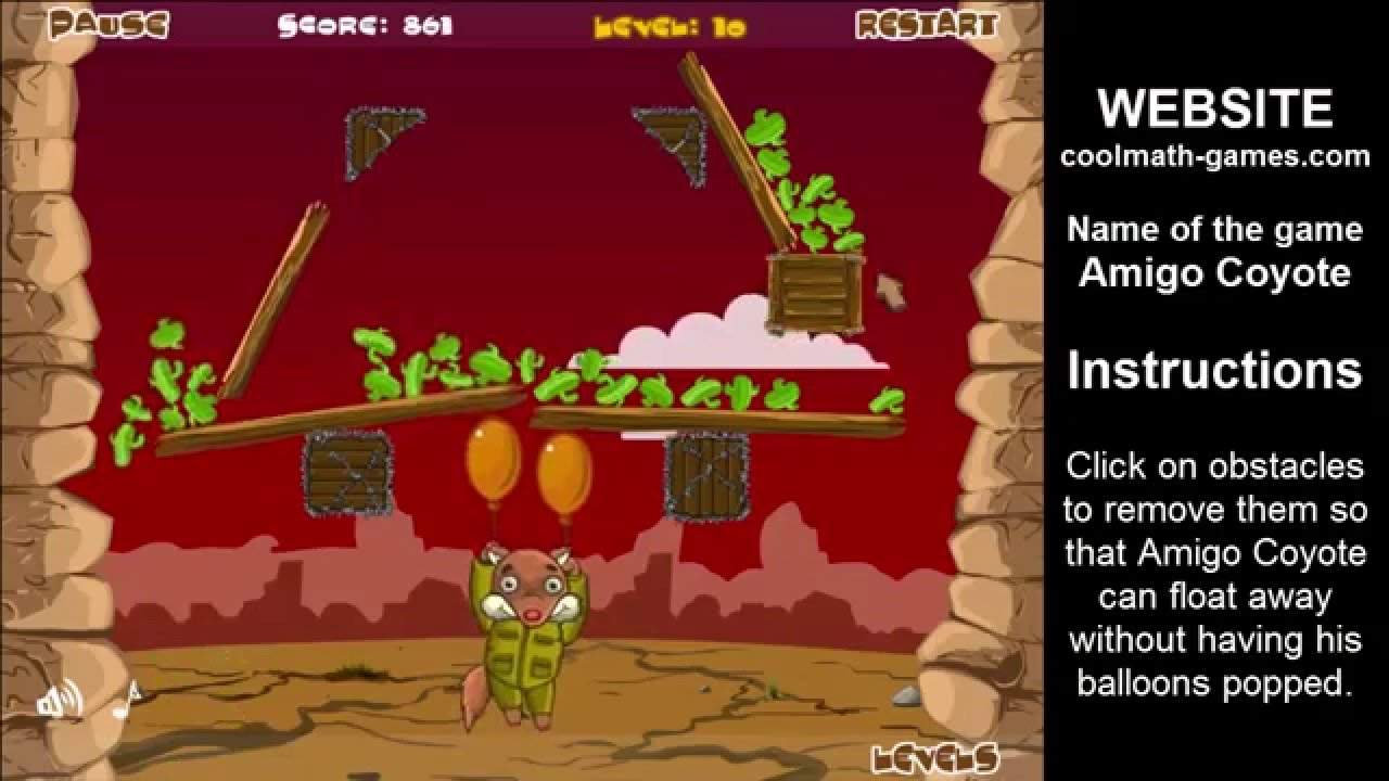 Cool Games For Free : Amigo coyote cool math games online free play