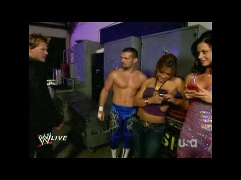 Mickie Candice Noble & Jericho Backstage