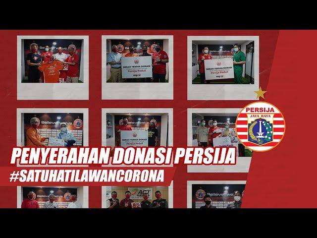 Persija Lakukan Penyerahan Donasi #PersijaUntukIndonesia