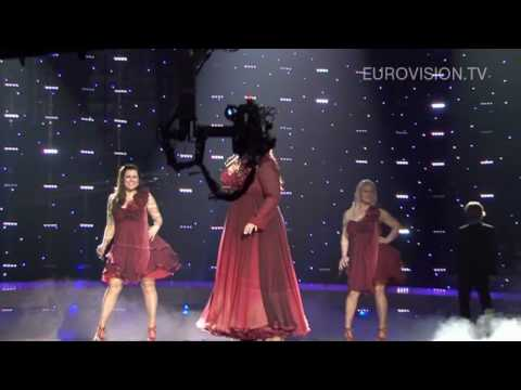 Hera Björk's first rehearsal (impression) at the 2010 Eurovision Song Contest