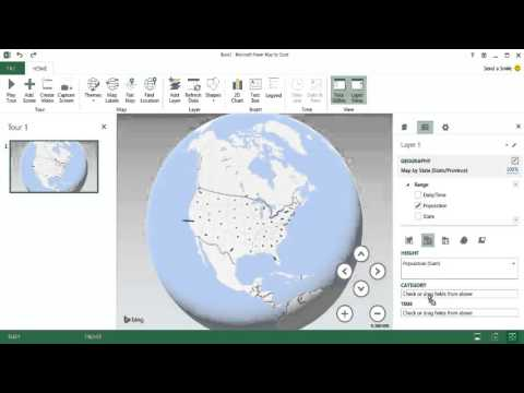 Create a Time Lapse Map of Population Changes
