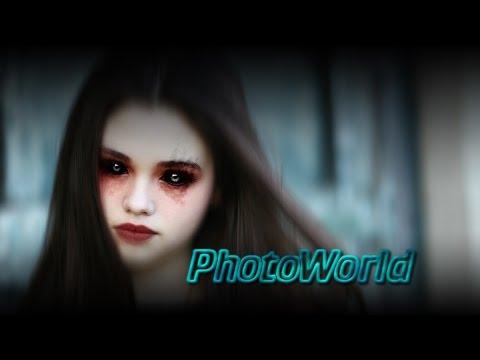 Photoshop Tutorial Schwarze Damonische Augen Mit Photoshop Und