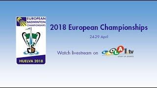 Labar / Fontaine vs Christiansen / Pedersen (XD, QF) - European C'ships 2018
