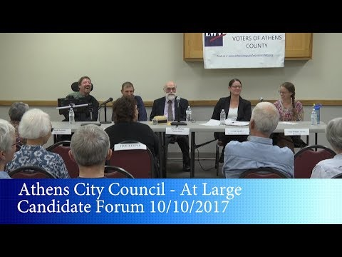 Athens City Council - At Large Candidate Forum 10/10/2017