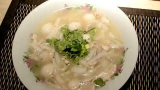 Asian Chicken Drop Noodle Soup